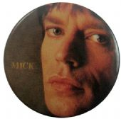 The Rolling Stones - 'Mick Close Up Brown' Button Badge